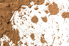 Argile de texture se déplaçant à l'arrière-plan blanc. Images libres de droits