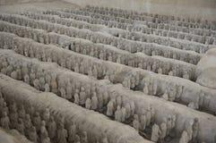 Argile miniature Shenz d'armée de terre cuite de la Chine d'histoire image libre de droits