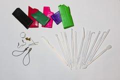 Argile rectangulaire de polymère de barres sur un fond blanc Photo libre de droits