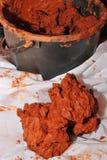 Argile rouge Image libre de droits
