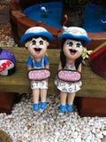Argilla al forno della bambola Fotografia Stock