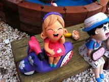 Argilla al forno della bambola Fotografia Stock Libera da Diritti