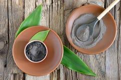 Argilla cosmetica Immagine Stock