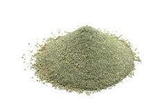 Argilla cosmetica verde della polvere Fotografie Stock Libere da Diritti