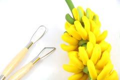 Argilla del modanatura della banana Immagine Stock