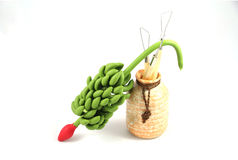 Argilla del modanatura della banana Fotografie Stock