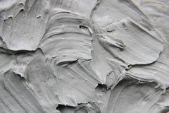 Argilla della maschera del fango con i minerali del mar Morto Struttura Fuoco selettivo fotografie stock libere da diritti