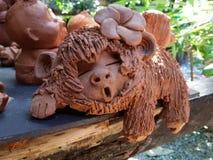 Argilla della scimmia Fotografia Stock