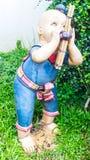 Argilla di musica tailandese di Khene del gioco di bambini Fotografia Stock