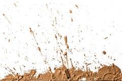 Argilla di struttura che si muove nel fondo bianco. Fotografia Stock Libera da Diritti