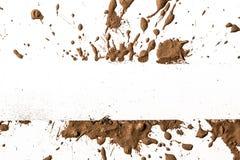Argilla di struttura che si muove nel fondo bianco. Fotografia Stock