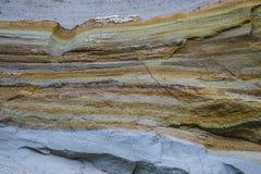 Argilla e sabbia negli strati Immagine Stock Libera da Diritti