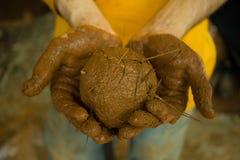 Argilla e Straw Ball Fotografia Stock