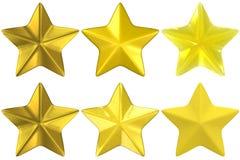 Argilla vetro/metallo di colore giallo dell'oro di figura della stella Fotografia Stock Libera da Diritti