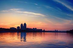 Argine al tramonto Fotografia Stock Libera da Diritti