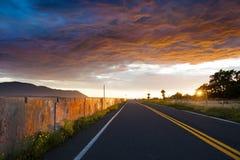 Argine al tramonto Immagini Stock