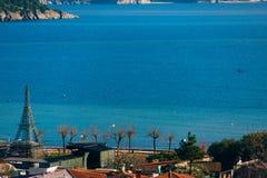 Argine in Budua, Montenegro Fucilazione con la configurazione più alta Immagine Stock Libera da Diritti