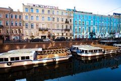 Argine del canale di Griboyedov Immagine Stock