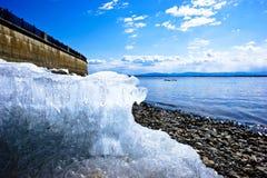 Argine del fiume Amur in Chabarovsk Fotografia Stock