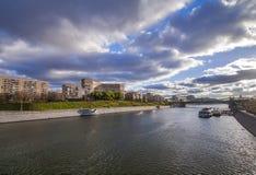 Argine del fiume di Mosca Immagine Stock Libera da Diritti