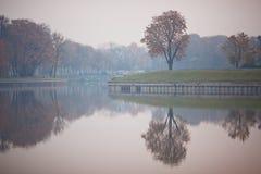 Argine del lago Superiore Kaliningrad Fotografie Stock Libere da Diritti