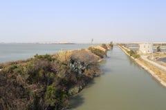 Argine dell'isola del xiaodeng fotografia stock