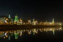 Argine di Cremlino di notte Immagine Stock Libera da Diritti