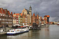 Argine di Dluga a Danzica poland Immagine Stock Libera da Diritti