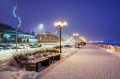 Argine di Volga a Nizhny Novgorod fotografia stock libera da diritti