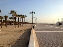 Argine e spiaggia di Valencia Immagini Stock Libere da Diritti