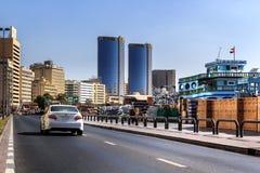Argine nel vecchio porto di Deira fotografia stock