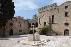 Argirokastrou Square in the old town of Rhodes Royalty Free Stock Image