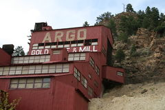 Argo Gold Mine. The Argo Gold Mine and Mill is a National historic site located in Idaho Springs,Colorado. It has a museum with a lot of old equipment tours of Stock Images