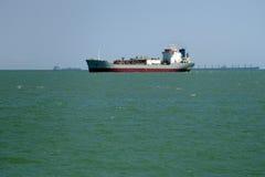 Argo ship on the high seas. Background - large cargo ship on the high seas Stock Photography