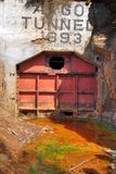 Argo Tunnel and Mine. The entrance to the Argo Tunnel in Idaho Springs, Colorado.  Before a Superfund treatment plant was built, the mine was a significant Royalty Free Stock Image