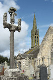 Argol church and calvary - Brittany Stock Photo