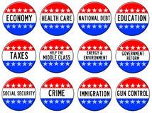 Argomenti di elezione Fotografie Stock Libere da Diritti
