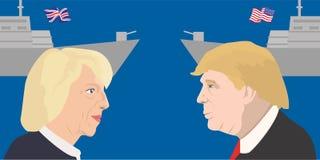 Argomento dei leader politici Immagini Stock
