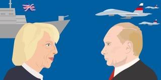 Argomento dei leader politici Fotografia Stock
