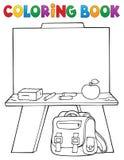 Argomento 1 di schoolboard del libro da colorare Fotografia Stock Libera da Diritti