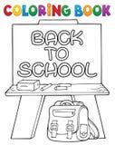 Argomento 2 di schoolboard del libro da colorare Fotografia Stock Libera da Diritti