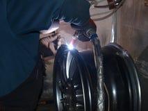 Argon arc welding Royalty Free Stock Photo