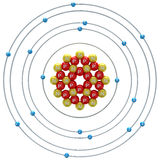 Argon atom on a white background Royalty Free Stock Photography