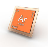 Argon chemical element sign. 3D generated illustration Royalty Free Stock Photography