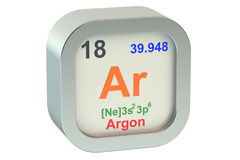 Argon. Isolated 3d on white background Royalty Free Stock Photography