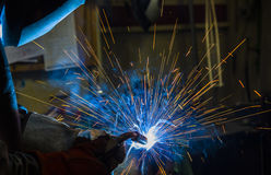 Argon welding splatter Stock Photography