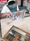 Argon welding Stock Image