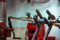 Argonu łuku spaw, Bezwładny gaz osłaniał łuku spaw w warsztacie zdjęcie stock