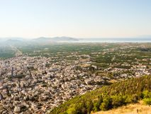 The Argos cityscape. Cityscape of Argos in summer, Peloponnese, Greece Royalty Free Stock Images