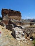 Argos, de overblijfselen van een oud gebouw stock foto's